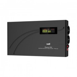 AVR-2000VA Well ΨΗΦΙΑΚΟ SlimPower LCD Display Black AVR-REL-SLIMPOWER2000-WL